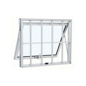 Janela-de-Aluminio-Maxim-Ar-Alumifort-Branca-com-Grade-Classic-1-Folha-40x60x7---Sasazaki