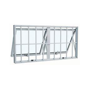 Janela-de-Aluminio-Maxim-Ar-Duplo-Alumifort-Branca-com-Grade-Classic-2-Folhas-60x100x7---Sasazaki