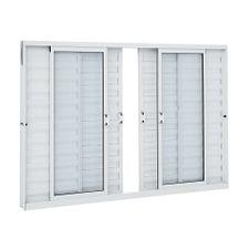 Janela-de-Aluminio-Veneziana-de-Correr-Alumifit-Branca-sem-Grade-6-Folhas-100x150x76---Sasazaki