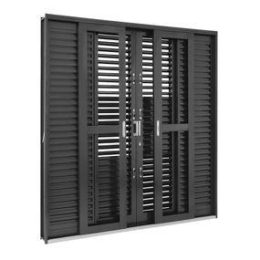 Porta-Balcao-de-Aco-de-Correr-Multiflex-Silenfort-6-Folhas-217x200x16---Sasazaki