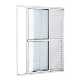 Porta-Balcao-de-Aluminio-de-Correr-Alumifort-Branca-3-Folhas-Abertura-Direita-216x120x13---Sasazaki