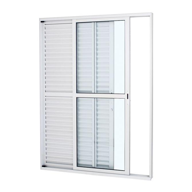 Porta-Balcao-de-Aluminio-de-Correr-Alumifort-Branca-3-Folhas-Abertura-Esquerda-216x120x13---Sasazaki