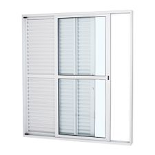 Porta-Balcao-de-Aluminio-de-Correr-Alumifort-Branca-3-Folhas-Abertura-Esquerda-216x160x13---Sasazaki
