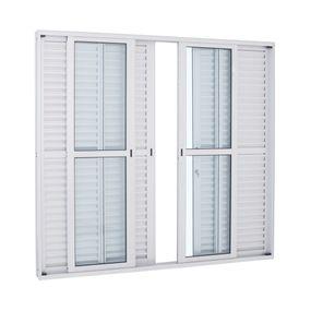 Porta-Balcao-de-Aluminio-de-Correr-Alumifort-Branca-6-Folhas-216x250x13---Sasazaki
