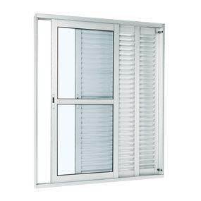Porta-Balcao-de-Aluminio-de-Correr-Aluminium-Branca-3-Folhas-Abertura-Direita-216x150x14---Sasazaki