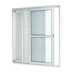 Porta-Balcao-de-Aluminio-de-Correr-Aluminium-Branca-3-Folhas-Abertura-Esquerda-216x150x14---Sasazaki