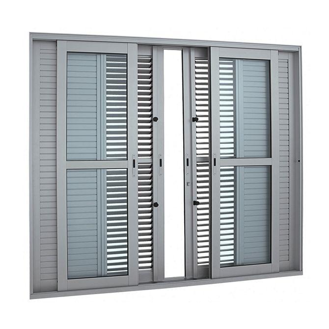 Porta-Balcao-de-Aluminio-de-Correr-Multiflex-Aluminium-Natural-6-Folhas-216x250x175---Sasazaki