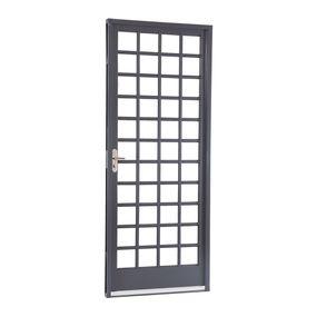 Porta-de-Aco-de-Abrir-Belfort-Quadriculada-1-Folha-Abertura-Direita-217x87x65---Sasazaki