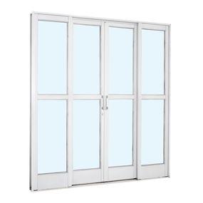 Porta-de-Aco-de-Correr-Pratika-Branca-com-Divisao-Central-4-Folhas-217x200x12---Sasazaki