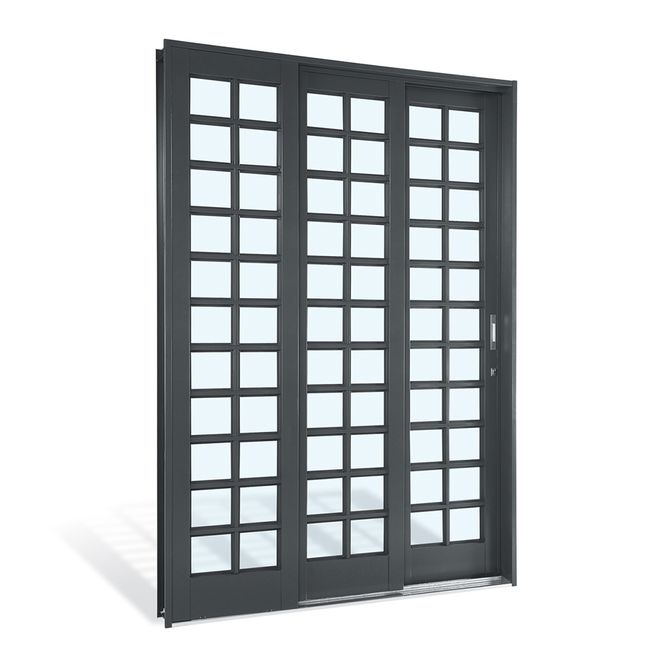 Porta-de-Aco-de-Correr-Silenfort-Quadriculada-3-Folhas-Abertura-Esquerda-217x150x14---Sasazaki