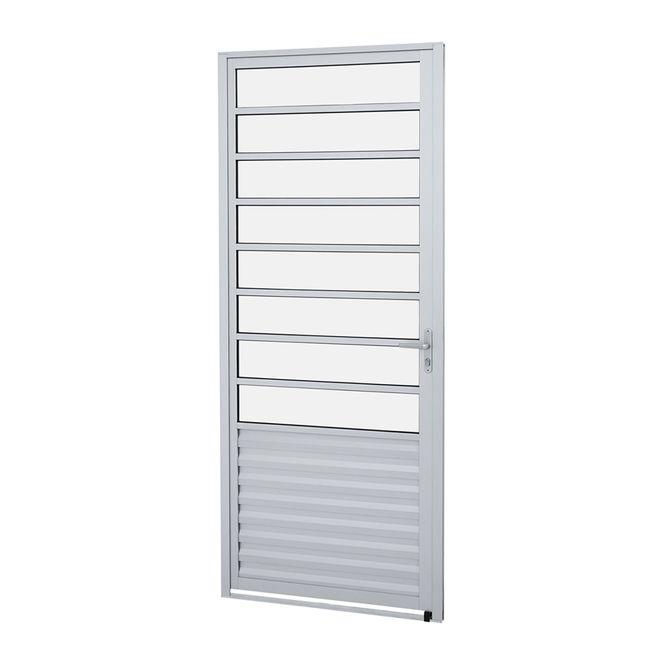 Porta-de-Aluminio-de-Abrir-Alumifit-Natural-com-Divisao-1-Folha-Abertura-Esquerda-215x87x4---Sasazaki