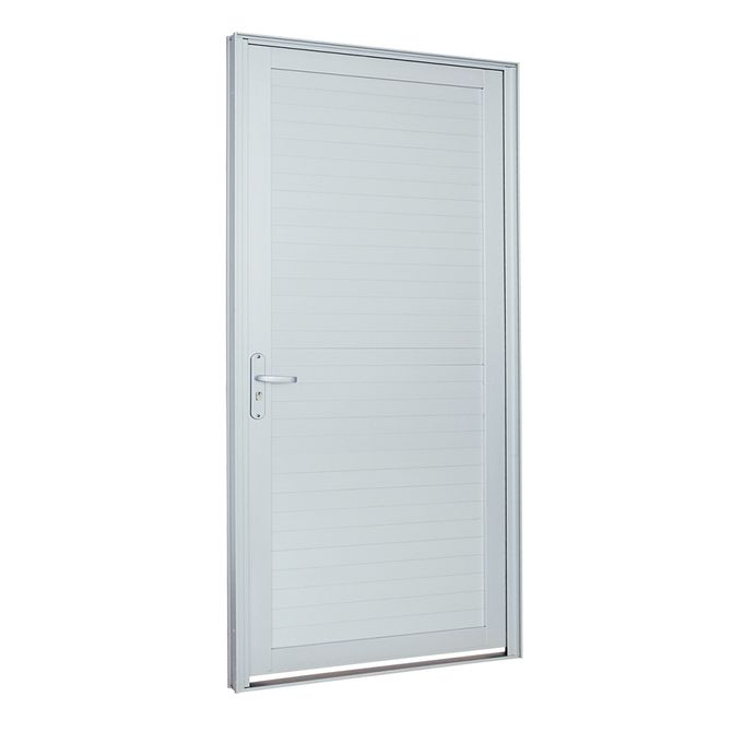 Porta-de-Aluminio-de-Abrir-Alumifort-Branca-com-Lambri-Horizontal-1-Folha-Abertura-Direita-216x98x54---Sasazaki
