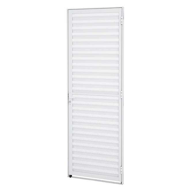 Porta-de-Aluminio-de-Abrir-Veneziana-Alumifit-Branca-1-Folha-Abertura-Esquerda-215x77x4---Sasazaki