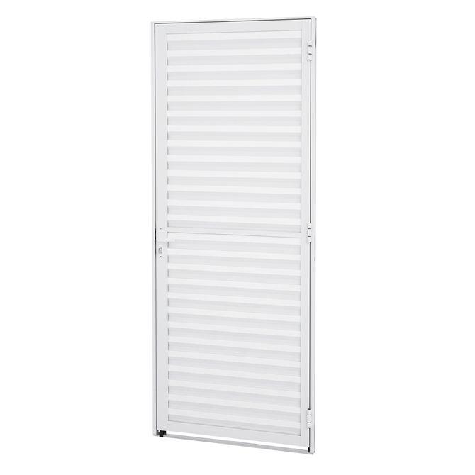 Porta-de-Aluminio-de-Abrir-Veneziana-Alumifit-Branca-1-Folha-Abertura-Esquerda-215x87x4---Sasazaki