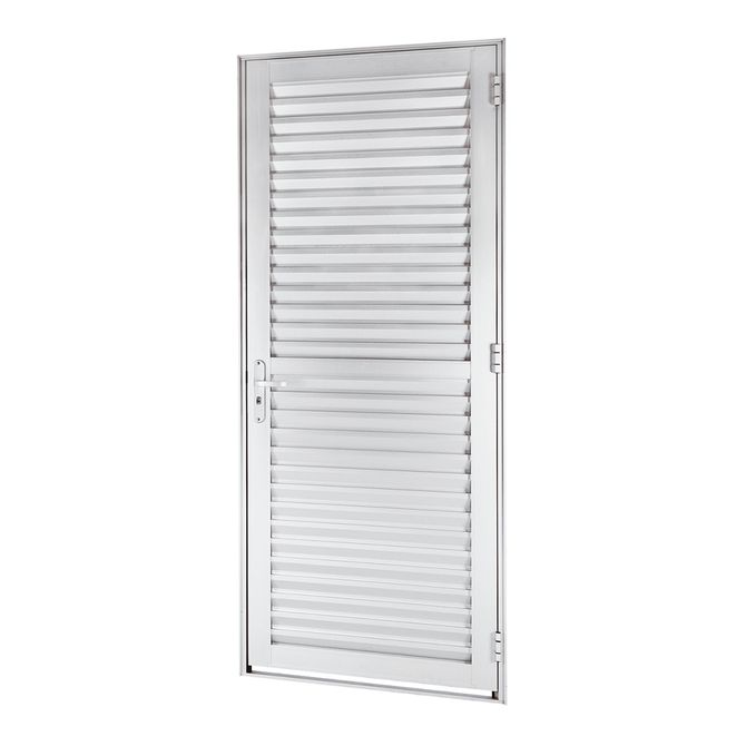 Porta-de-Aluminio-de-Abrir-Veneziana-Alumifort-Branca-1-Folha-Abertura-Esquerda-216x88x54---Sasazaki
