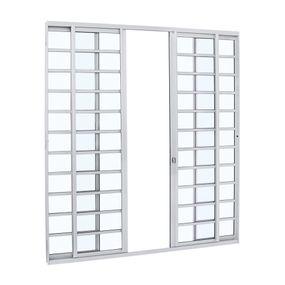 Porta-de-Aluminio-de-Correr-Alumifit-Branca-com-Divisao-4-Folhas-216x200x7---Sasazaki