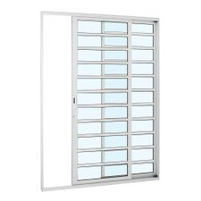 Porta-de-Aluminio-de-Correr-Alumifort-Branca-com-Divisao-2-Folhas-Abertura-Direita-216x160x87---Sasazaki