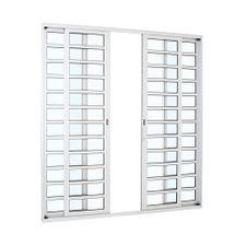 Porta-de-Aluminio-de-Correr-Alumifort-Branca-com-Divisao-4-Folhas-216x200x87---Sasazaki