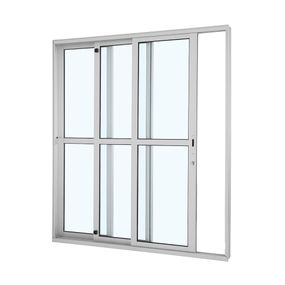 Porta-de-Aluminio-de-Correr-Alumifort-Branca-com-Divisao-Central-3-Folhas-Abertura-Esquerda-216x200x125---Sasazaki