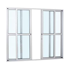 Porta-de-Aluminio-de-Correr-Alumifort-Branca-com-Divisao-Central-4-Folhas-216x250x87---Sasazaki