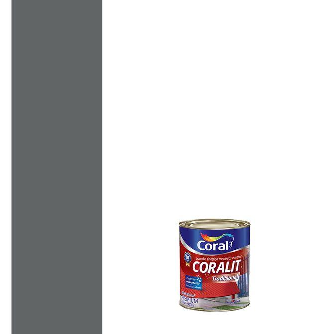 Esmalte-Sintetico-Brilhante-Coralit-Cinza-Escuro-900ml---Coral
