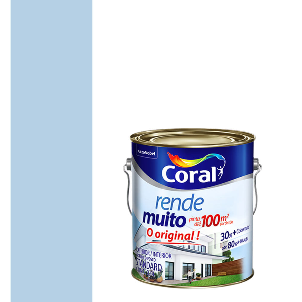 Coral Azul Tinta ~ Tinta Acrílica Fosco Rende Muito Azul Sereno 3,6L Coral padovani
