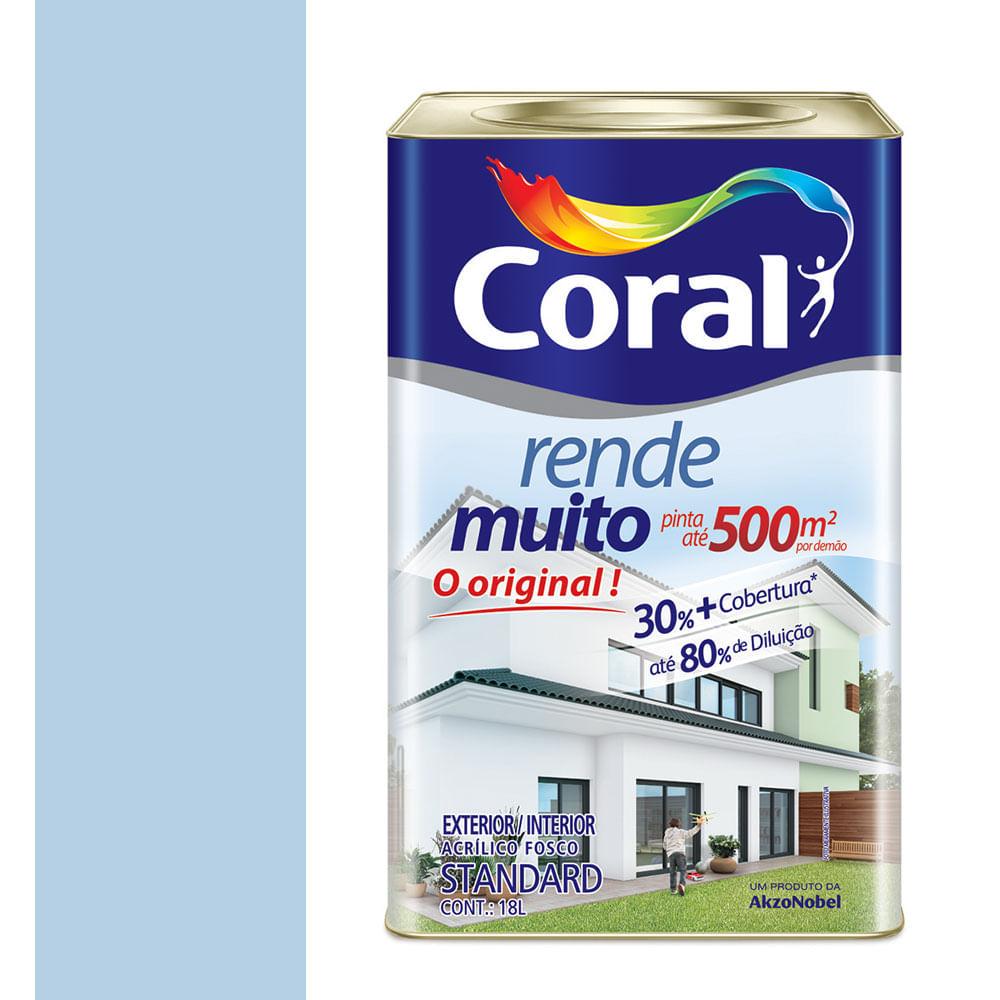 Coral Azul Tinta ~ Tinta Acrílica Fosco Rende Muito Azul Sereno 18L Coral padovani
