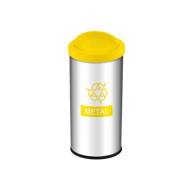 Lixeira-Seletiva-com-Tampa-Basculante-Amarela-para-Metal-3100-204---Brinox