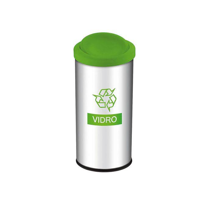 Lixeira-Seletiva-com-Tampa-Basculante-Verde-para-Vidro-3100-203---Brinox