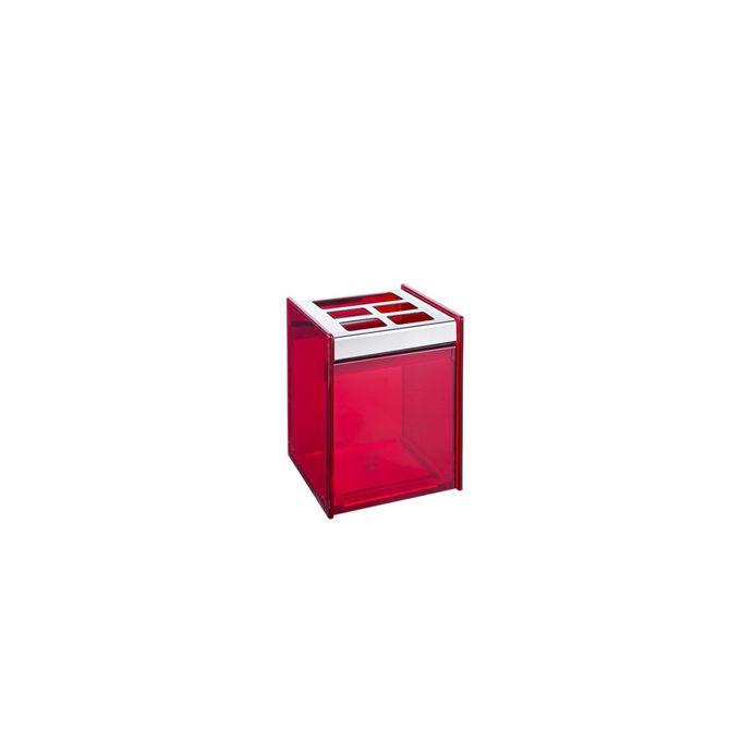 Porta-Escova-Quadrata-Vermelho-1981-009---Brinox