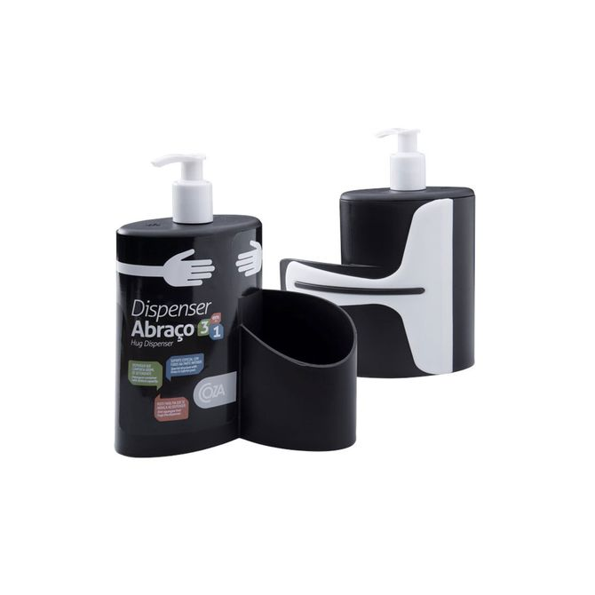 Dispenser-Abraco-Preto-600ml-10864-0008---Coza