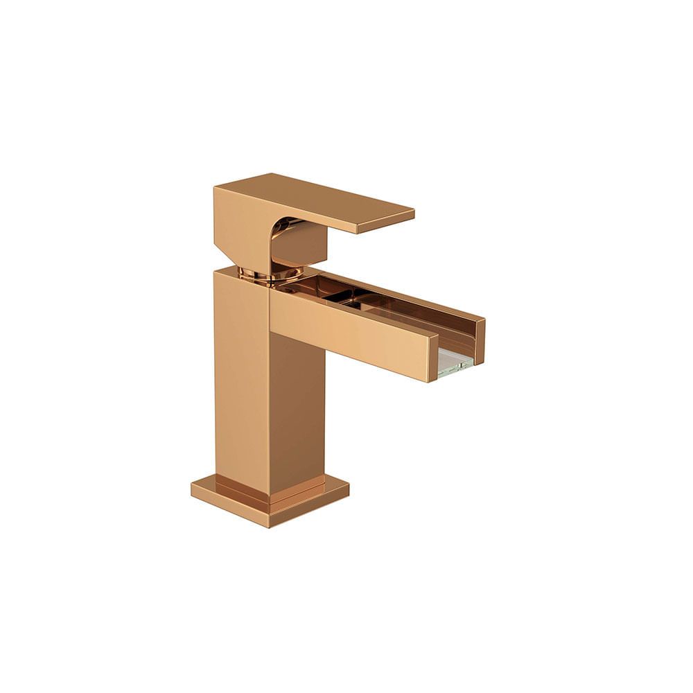 Misturador Monocomando Para Banheiro Mesa Unic Cascata Red Gold 2875