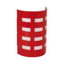 Arandela-TD42-Aluminio-1xE27-Vermelho---Taschibra