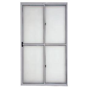 Porta-de-Correr-de-Aluminio-com-2-Folhas-210x150-Branca---13001---Esquadriart