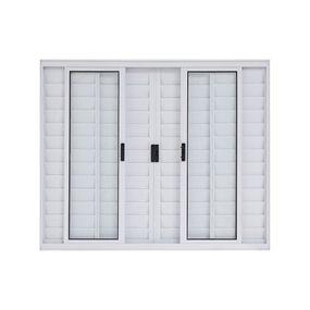 Janela-Veneziana-de-Correr-de-Aluminio-6-Folhas-sem-Grade-100x120-Branca---30013---Esquadriart