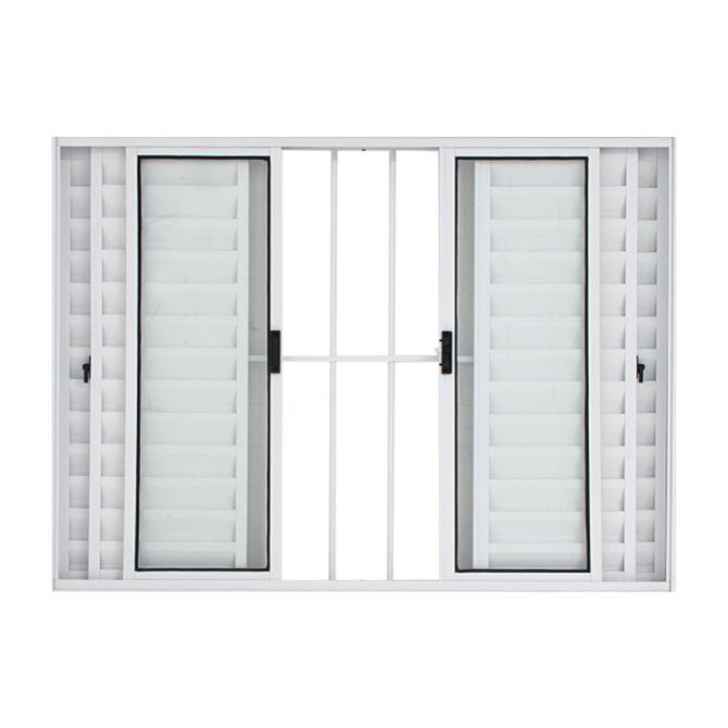 Janela-Veneziana-de-Correr-de-Aluminio-6-Folhas-com-Grade-100x150-Branca---30015---Esquadriart