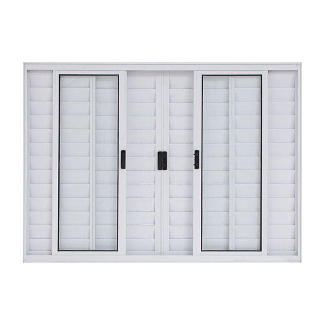 Janela-Veneziana-de-Correr-de-Aluminio-6-Folhas-sem-Grade-100x150-Branca---30014---Esquadriart