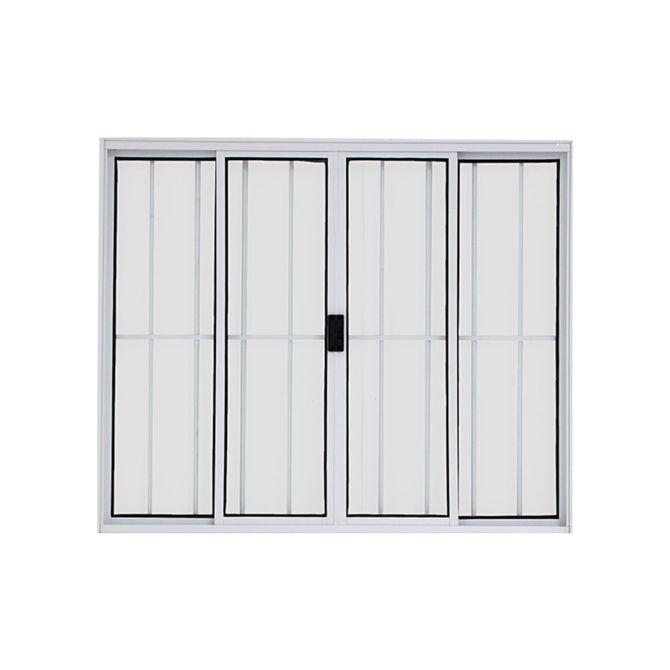 Vitro-de-Correr-de-Aluminio-4-Folhas-com-Grade-100x120-Branco---20019---Esquadriart
