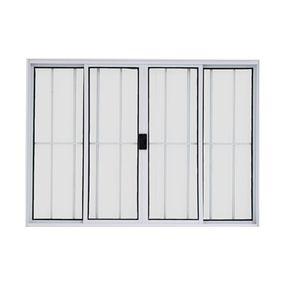Vitro-de-Correr-de-Aluminio-4-Folhas-com-Grade-100x150-Branco---20020---Esquadriart
