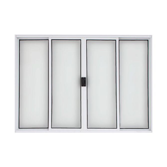 Vitro-de-Correr-de-Aluminio-4-Folhas-sem-Grade-100x150-Branco---20029---Esquadriart