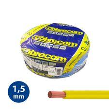 Cabo-Flexivel-15mm-Amarelo---Rolo-100m---Cobrecom