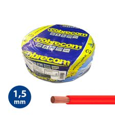 Cabo-Flexivel-15mm-Vermelho---Rolo-100m---Cobrecom