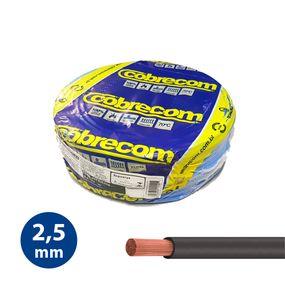 Cabo-Flexivel-25mm-Preto---Rolo-100m---Cobrecom