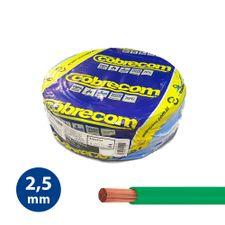 Cabo-Flexivel-25mm-Verde---Rolo-100m---Cobrecom