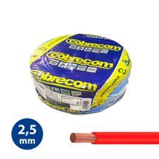Cabo-Flexivel-25mm-Vermelho---Rolo-100m---Cobrecom