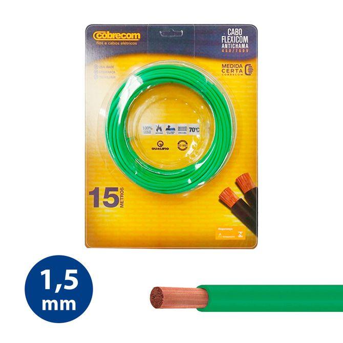 Cabo-Flexivel-15mm-Verde---Rolo-15m---Cobrecom