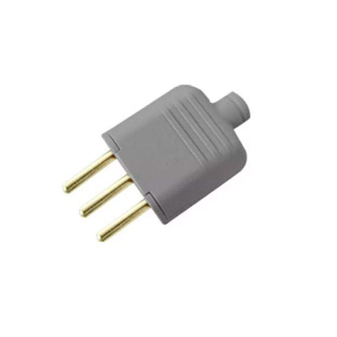 Plug-180G-com-3-Pinos-de-10A-Cinza---Ref.-12692---Margirius