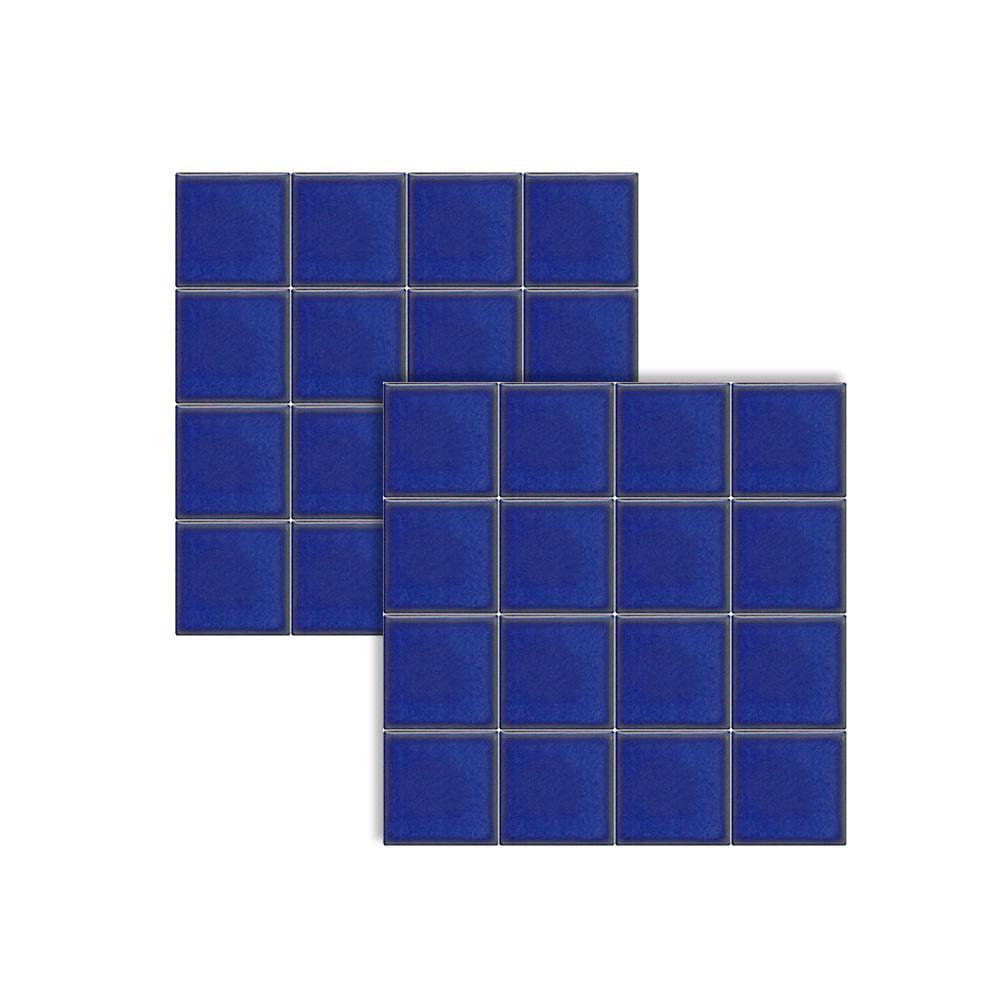Pastilha Cer Mica Para Piscina Azul Viscaya 5x5cm Jd