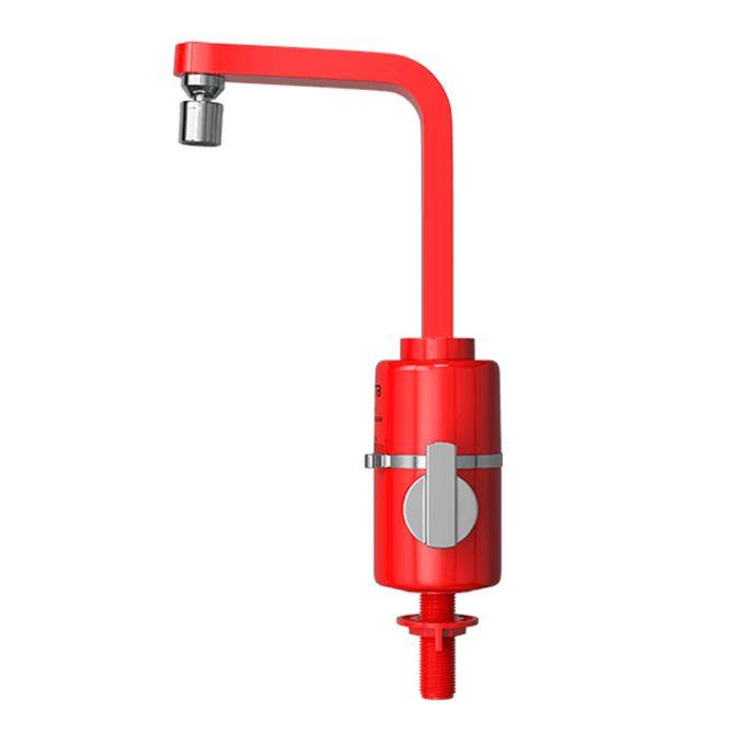 Torneira-Eletrica-Multitemperaturas-Slim-Vermelha-Mesa-220v---Hydra