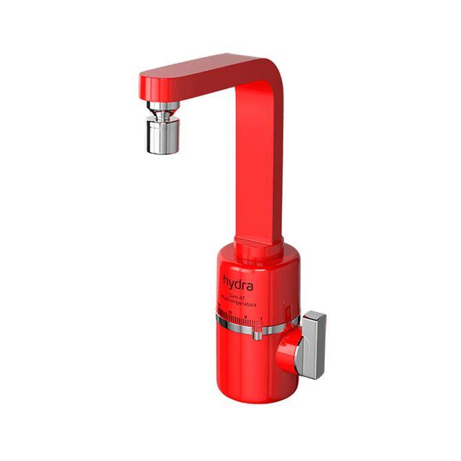 Torneira-Eletrica-Multitemperaturas-Slim-Vermelha-Parede-220v---Hydra